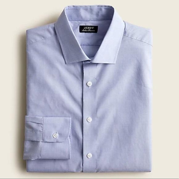 J crew slim ludlow dress shirt blue cotton